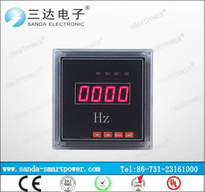 Front Mounting Frequency Monitors Large LED Size Frequency Meter HZ Meter