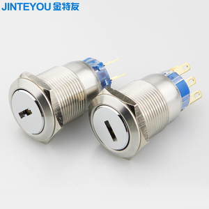 IP68 waterproof maintained 2 position 3 position key switch