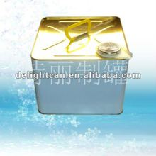 alibaba square chemical paint metal tin box/can with pressure lid