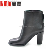 china shoes factory chengdu fashion women platform lady shoes manufacturer factory studded stiletto heels black ankle boots