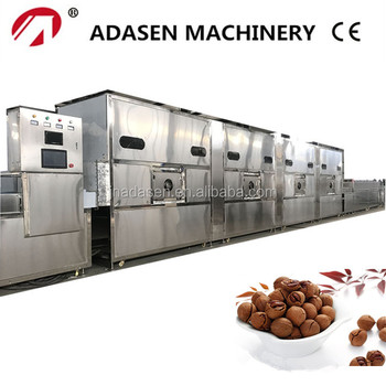 China supplier conveyor belt microwave baking equipement for pecan