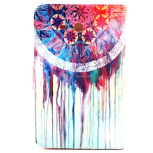 For GALAXY Tab 3 Lite T110 Jellyfish Pattern Flip Smart Stand Leather Case For Samsung Luxury Folding Smart Cover Case