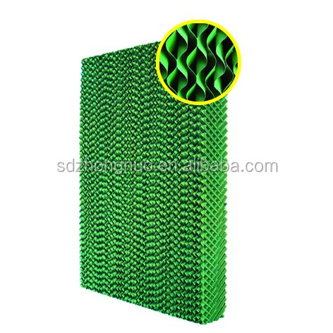 Factory outlet cooling pad/wet curtain for greenhouse cooling system
