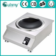 Powerful Electrical single wok conduction stove with concave round surface