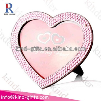 Bling bling Rhinestone heart shaped photo frame