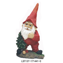 outdoor hand painted decorations cute resin christmas elf for sale