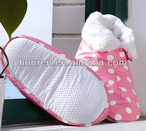 China national brand soft fabric fashionable gray duck down slipper