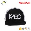 wholesale cheap flat bill brim custom cotton 6 panel snapback trucker cap quality mesh