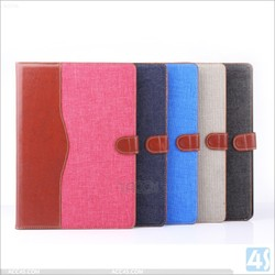 Cool jeans pu leather wallet case for ipad air ipad air 2