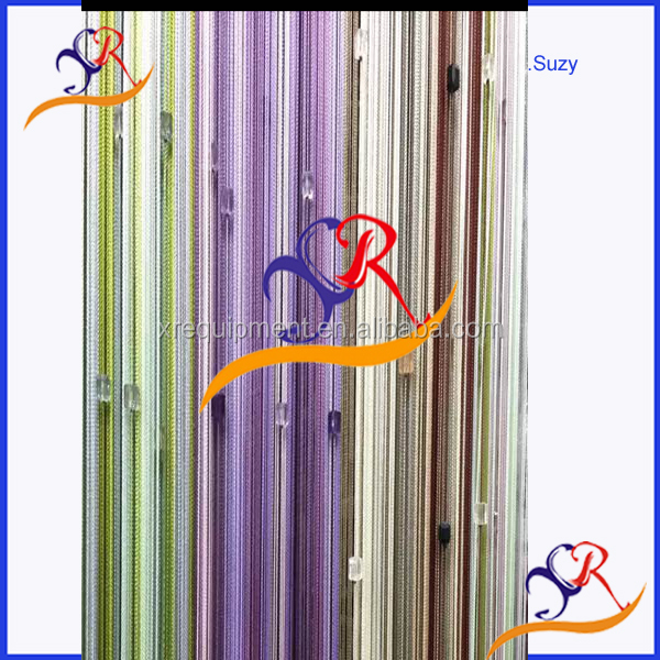 High end effective Single color string line curtain drape