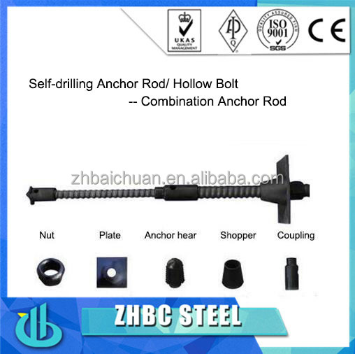 High strength Mine roof support self-drilling rock anchor bolt