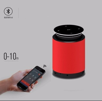 2017 new type miniso bluetooth speaker speaker car audio with touch-screen and stretch funtions