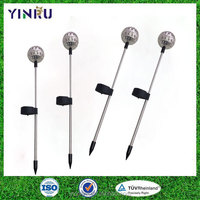 Wholesale stainless steel solar powered LED landscape stake lighting