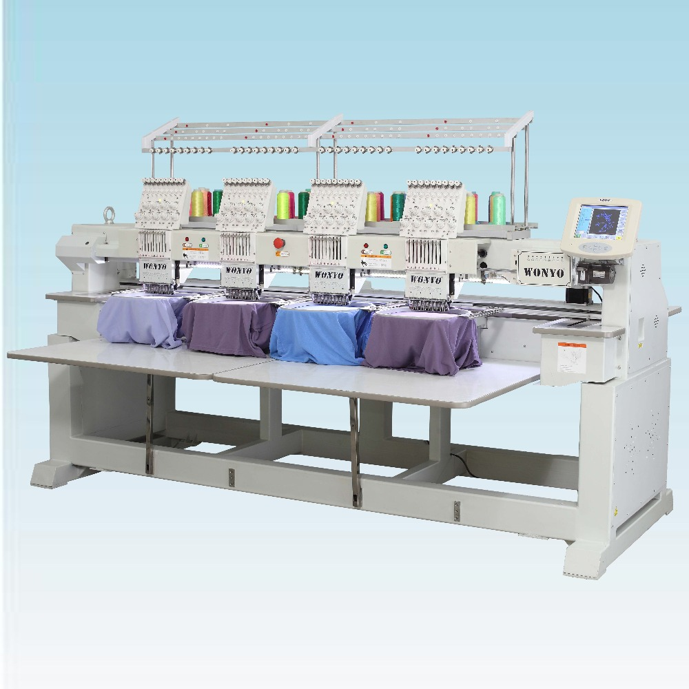 4 head computerized Coiling embroidery machinery for stitching high quality