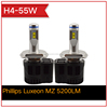 2015!! High Quality 55W 5200LM/bulb IP68 H4 LED Car Headlight Bulbs LED Auto Head Lights High Low Beam