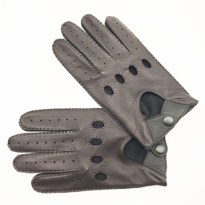 Mens driving leather gloves deerskin leather gloves for men