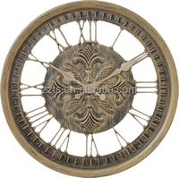 12 inch imitated antique wall clock with roman or arabic numbers