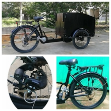 Best selling cargo 3 seat motorcycle truck electric 3 wheel tricycle