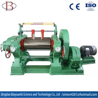 Two roll rubber open mixing mill rubber machine