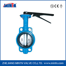Ductile Iron stainless steel manual Water Butterfly Valves 304/316
