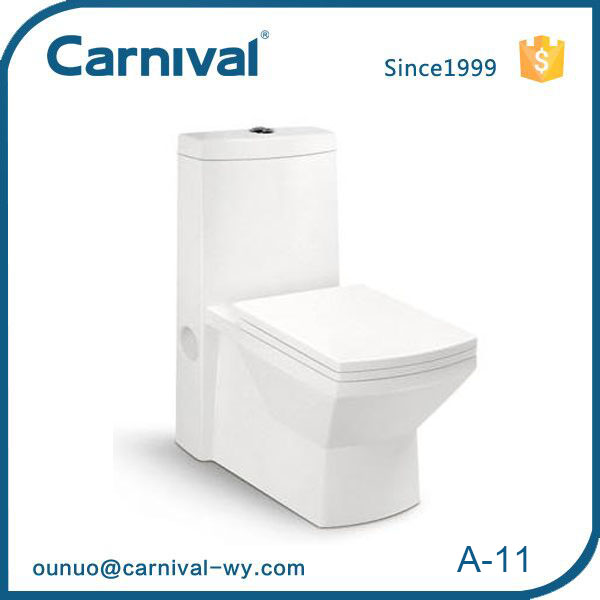 Hot sale modern design durable Square bowl siphonic toilet water closet A11