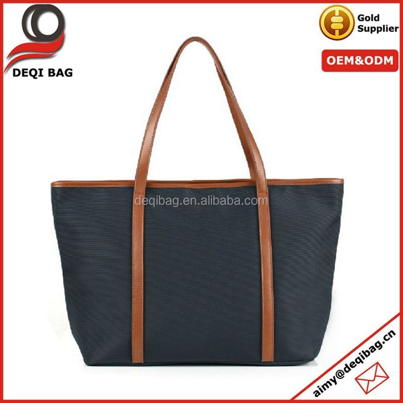Europe and America the latest simple plain designer canvas bags, handbags for lady