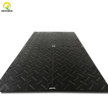 Plastic road plate engineered hdpe ground mat uhmwpe trackway panel