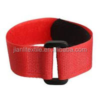 Elastic professional customized hook and loop elastic arm band
