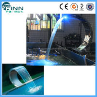Guangzhou Factory stainless steel+ LED light landscape waterfalls and fountains
