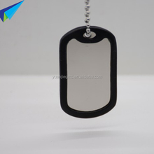 2016 bulk wholesale metal blank military dog tag with ball chain