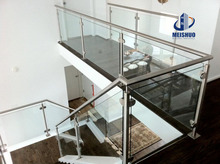 Stainless steel stair glass balustrade fittings in railing systems