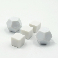 Blank surface Large 12 Sided Blank Writing Dice set 16MM Printing Blank White Dice
