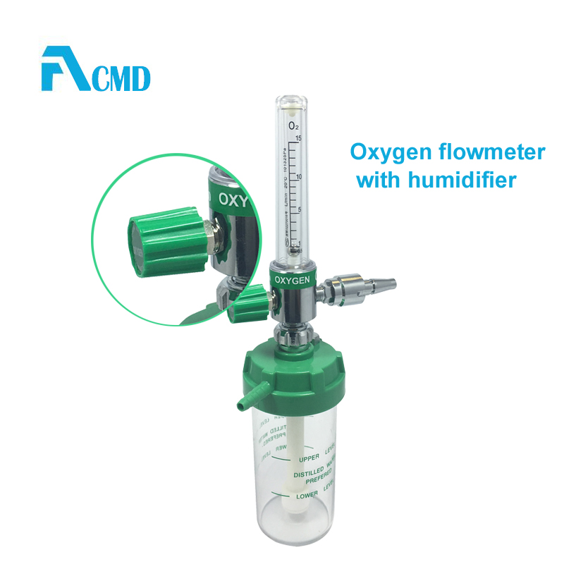 Oxygen Flow Meter Therapy Connect With DISS Adaptor