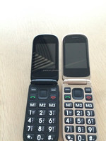 quan band gsm large digit flip cell phone for elderly