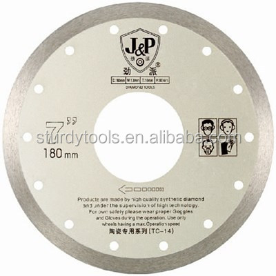 "2015 guangzhou 7"" 180mm diameter*60mm arbor*2mmthickness granite tile saw blade"