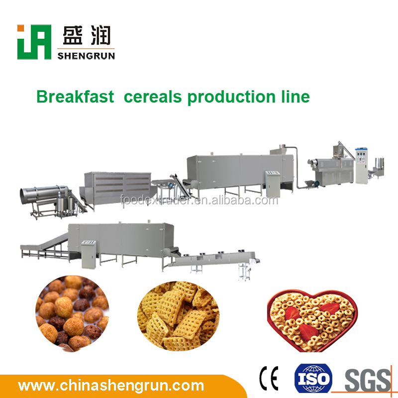 Choco cups/rings/stars breakfast cereals automatic production line