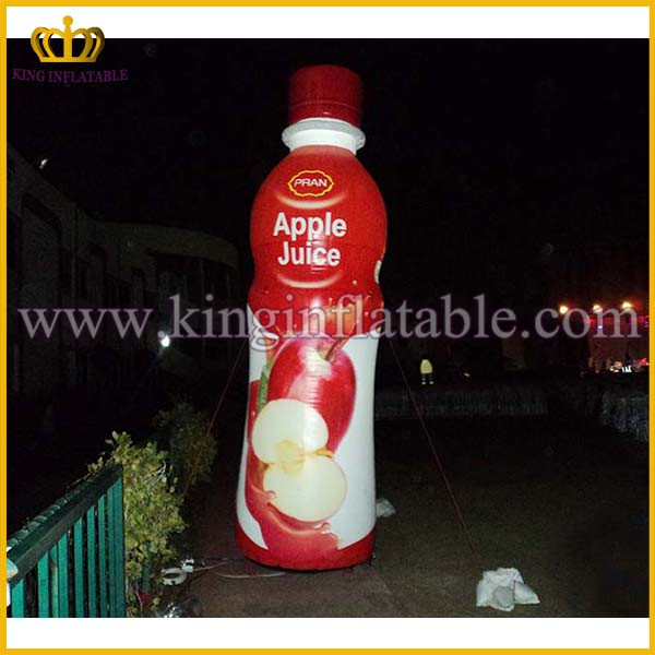 New Custom Giant Apple Juice Inflatable bottle model, Promotional Inflatable Champagne Bottle