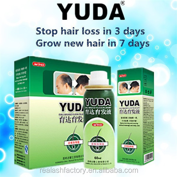 Grow long thick hair YUDA anti hair loss/hair growth lotion/herbal hair growth