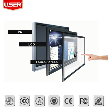 Most popular 19 inch IR lcd Touch Screen Monitor for digital signage wall mount