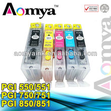 For canon printers refill ink cartridge for canon PGI-550 CLI-551 with ARC chip