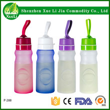550ml High quality Sports bottle BPA Free Silicone foldable water bottle