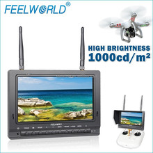 7 inch no blue screen HD 1080p hdmi fpv monitor explorer helicopter with lipo battery for aerial photography