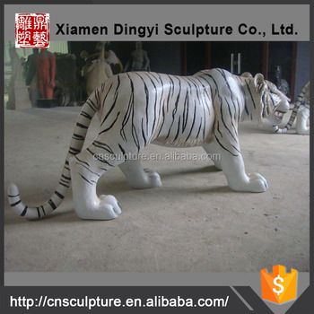 Decorative Animal life-size Fiberglass Tiger Sculpture
