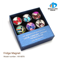 HX-6876 New arrival souvenir Promotional gifts 2D or 3D Glass fridge magnets and education magnets