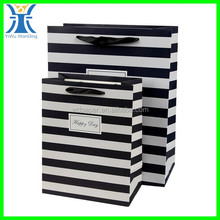 Yiwu New Arrived creative make white and black stripe gift bag Boutique paper bags