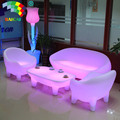 New Design 4 Legs LED Light Nightclub Sofa Set Living Room Sofa Set