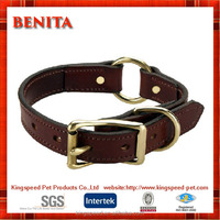 2016 China factory supply fine copper fitting leather collar