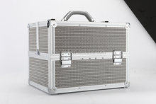 large aluminum cosmetic train makeup case artist lockable box