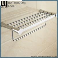 brass chrome hanging double deck towel racks toilet suction shelf