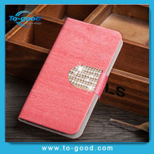 Luxury Designer Flip Leather Mobile Cell Phone Case for LG E400 Optimus L3